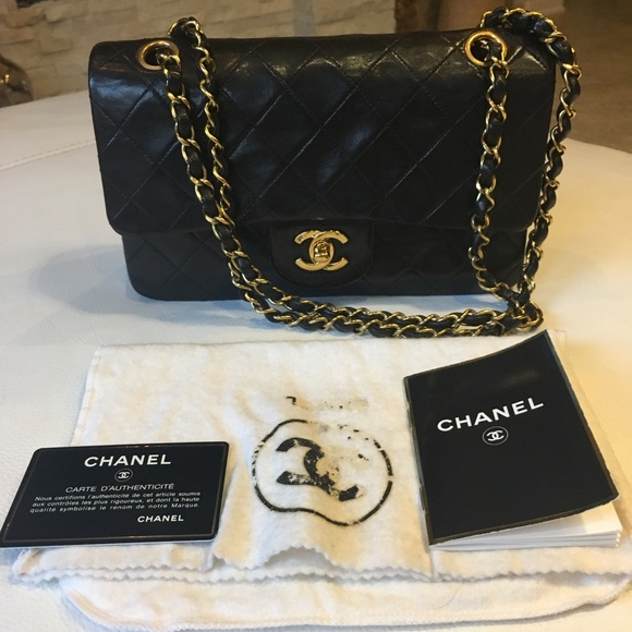 1e4b9ce8720d CHANEL Handbags - Chanel classic small flap bag black lambskin gold